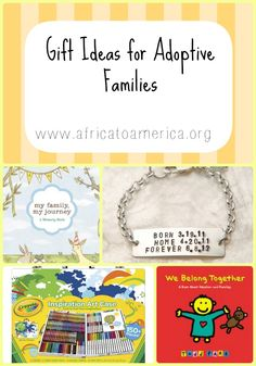 Gift ideas for adoptees and their families.