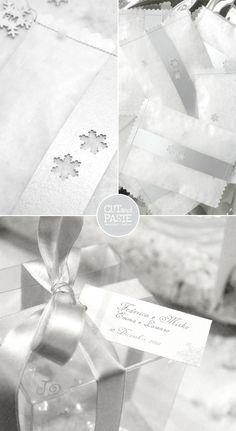na di vetro - e dulcis in fundo, le bustine di eco-neve per accogliere gli sposi all'uscita della chiesa con coriandoli personalizzati.
