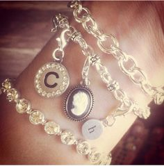 Got to Love bcharmed's Arm Candy! Letters are fun on bracelets too! Just for August bcharmed's Swarovski Crystal bracelet (70170) is on Sale for 15% off! www.bcharmed.com