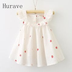 Cheap fashion girl dress, Buy Quality girls dress directly from China girl dress fashion Suppliers: VORO BEVE New Summer Baby Girl Dress Little Ear Edible Strawberry Pattern Sleeveless Princess Dress Fashion Kids Clothes Baby Girl Frocks, Kids Frocks, Frocks For Girls, Little Girl Dresses, Frock Design, Baby Dress Design, Baby Girl Fashion, Toddler Fashion, Kids Fashion