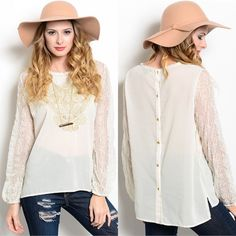The CARSON boho chic top - IVORY I'm so in love with comfy boho clothing. Who says you can't be comfy cute? ‼️NO TRADE‼️ Tops