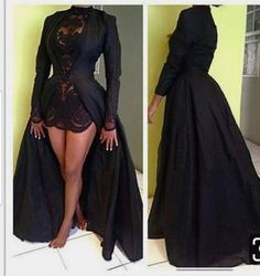 Black Prom Dresses Over Skirt Lace Evening Dress Evening Wear Red Carpet Pageant Formal Gowns Party Gown Sexy Long Sleeve High Neck modern Poofy Prom Dresses, Prom Dresses Long With Sleeves, Plus Size Prom Dresses, Black Prom Dresses, Short Dresses, Formal Dresses, Dresses With Capes, Dress Black, Black Dress For Wedding