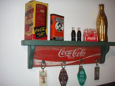 Coca-Cola RETRO wooden wall display shelves - crafted from 1970's original cases. $19.99, via Etsy.