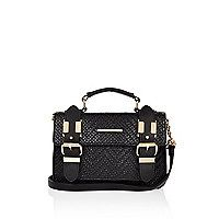 I'm shopping Black embossed mini satchel in the River Island iPhone app. Embossed Fabric, Carry On Suitcase, Womens Purses, Beautiful Bags, Mini Bag, Purses And Bags, Crossbody Bag, Handbags, Satchels