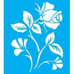 Stencil-para-Pintura-20x15-Rosa-com-Folhas-LSM-016---Litocart