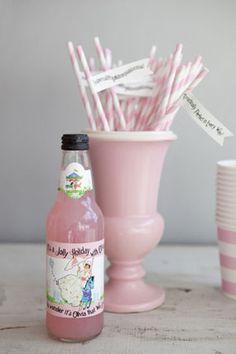 Mary Poppins tea birthday party custom drinks