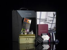 TRIMMINGS & TOYS - Add polish to his style with our selection of the ultimate in men's accessory essentials. From his scent to his socks, his desk to after dinner and inspiration for his next luxury toy, this collection is for the modern gentleman. #luxurygift