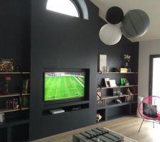 meuble tv en placo placo pinterest meuble tv tv et meubles. Black Bedroom Furniture Sets. Home Design Ideas