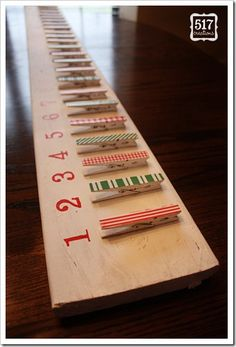 clothespin Christmas countdown how to