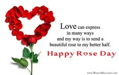 2018 Latest Happy rose day wishes for husband wife, Rose day messages for husband wife,Rose day card message for couple,Rose day sms wishes for better half. Msg For Husband, Wishes For Husband, Love Husband Quotes, Husband Wife, Love Message For Girlfriend, Message For Husband, Girlfriend Quotes, Wishes Messages, Wishes Images