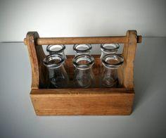 Six Sunbrokers Milk Bottles in Wooden Crate  by WestmoonVintages