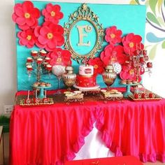 A gorgeous spread fit for a princess! Love this Elena of Avalor set up for a birthday party. Birthday Cake Girls Teenager, Girl Birthday, Cake Birthday, Party Decoration, Birthday Decorations, 6th Birthday Parties, Birthday Ideas, Baby Shower, Birthday Invitations