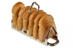 1:12th scale miniature sillver toast rack