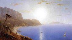 La Marina Grande, Capri, huile sur toile de Sanford Robinson Gifford (1823-1880, United States)