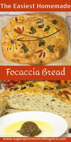 This delicious Focaccia Breadrecipe is easy to make & the flavors given by its toppings are outstanding! This vegan bread is light and airy, with a yummy olive oil saltiness and those herbs bring the whole loaf to life. #focacciabread #veganbread #vegetarian #focacciabreadart #focacciarecipe #focaccia