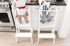 Ikea hack - toddler learning tower using a bekväm stool