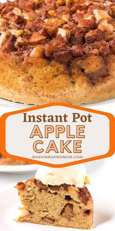 Yes, you CAN make a delicious apple spice cake in your pressure cooker! This cake is easy, delicious, and the perfect Instant Pot dessert recipe for fall!