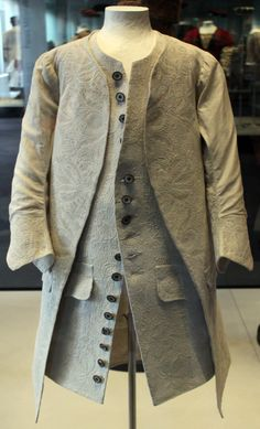 Boy's coat and waistcoat, Germany, 1750. Corded quilting.