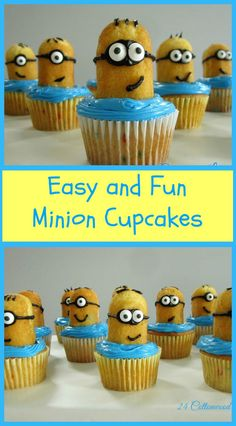 Easy to make Minion cupcakes, tutorial included. Birthday boys were thrilled!