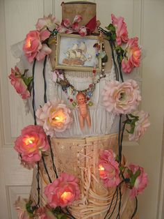 string of flower lights