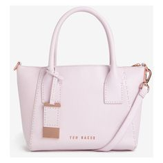 Small leather tote bag ($275) ❤ liked on Polyvore featuring bags, handbags, tote bags, pink tote, handbags totes, genuine leather handbags, leather tote and pink purse