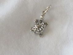 Charms, Animals: Turtle Medium Sterling Silver Charm Great for Delta Zeta #Traditional