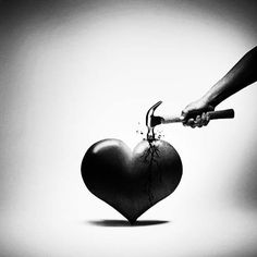 Hammering a heart - suicide is not an ending