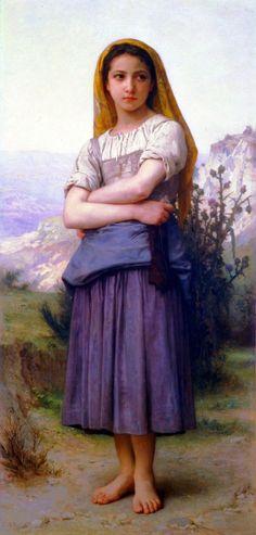 "William-Adolphe Bouguereau, ""Young Girl"""