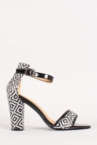 Vibe-1 Tribal Ankle Strap Open Toe Heel