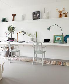 marmoleum-forbo-workspace-Remodelista (flip clock made by Fartech Corporation http://fartechcorp.com)