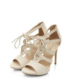 64f9721e87e Not just for weddings - we ll love these Stone Bridal Lace Up Strappy Heels