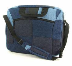 Recycled Denim Laptop Bag