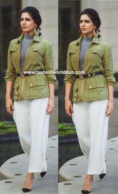 Samantha Akkineni's Spotted for U-Turn promotions   Fashionworldhub