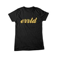 Errld Apparel | Errld Script Black Men's Shirt