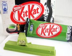 Japanese green tea Kit Kat Bars. Seriously me Paige wants this specific kit kat bar!!!! Now!!