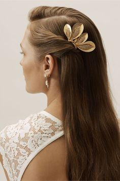 Bride Hairstyles, Headband Hairstyles, Thin Hairstyles, Hairstyles 2016, Casual Hairstyles, Gold Hair Accessories, Shiny Hair, Hair Jewelry, Jewellery