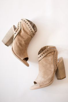 maude, shoes, heels, dolce vita, natasha, lace cut out, suede, nude, almond, natural, tan, fall, winter, open toe, bootie, casual, everyday, dressy, fun, trendy