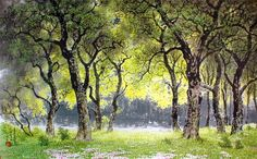 (North Korea) Forest by Lee Cheol (1958-  ).