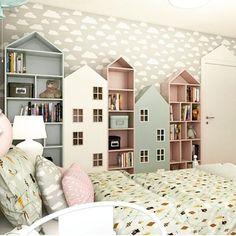 Home Bedroom House Design Family Nursery White Property Baby Bedroom, Girls Bedroom, Childs Bedroom, Room Baby, Master Bedroom, Bedroom Decor, Wallpaper Ceiling, Nursery Wallpaper, Bathroom Wallpaper