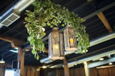 (Eucalyptus swag with lanterns) Hannah Elaine Photography