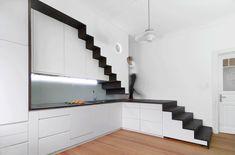 Stair Case Study House 03, Gerd Streng Architekt, kombiniertes Küchen-Treppenelement