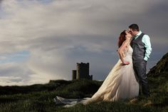 Beautiful Intimate Wedding on the Cliffs,West of Ireland - West Coast Weddings Ireland Wedding Mc, Irish Wedding, Wedding Places, Ireland Wedding, Wedding Couples, Dream Wedding, Destination Wedding, Ireland Cliffs Of Moher, Fairytale Castle