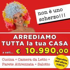 Arredamento completo a 10.990,00 euro per arredare la tua casa con Cucina, Camera da Letto, Salotto e Parete Attrezzata