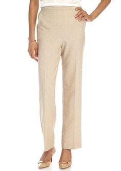 Alfred Dunner Linen Ladies Who Lunch Proportioned Medium Pant