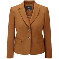 Viyella Petite Silk Linen Jacket, Cinnamon (€240) found on Polyvore