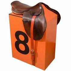 An Hermes saddle stool