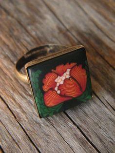 Gorgeous peony ring