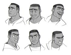 Detroit: Become Human Character Design Animation, Character Design References, Character Drawing, Character Concept, Cartoon Faces, Cartoon Drawings, Cartoon Style, Facial Expressions Drawing, Detroit Become Human