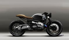 BMW R1200R Scrambler / Custom by Lazareth. Rendering by Jean-Thomas Mayer Design by Julien Fesquet & Jean-Thomas Mayer. http://www.bikeexif.com/bmw-r1200r