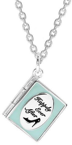 Disney Children's Cinderella Sterling Silver Book Pendant